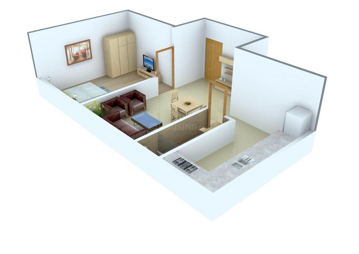 Sri Vaari Floor Plan: 1 BHK Unit with Built up area of 430 sq.ft 1