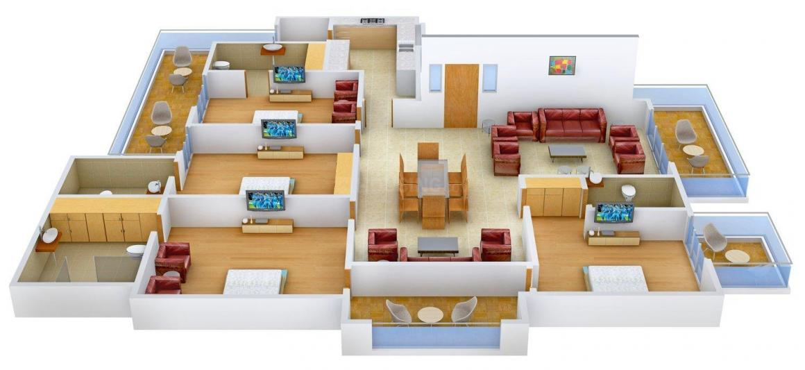 Commonweal Floors 6 Floor Plan: 4 BHK Unit with Built up area of 2100 sq.ft 1