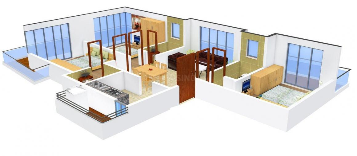 Floor Plan Image of 0 - 912.0 Sq.ft 3 BHK Apartment for buy in Abrol Windsor