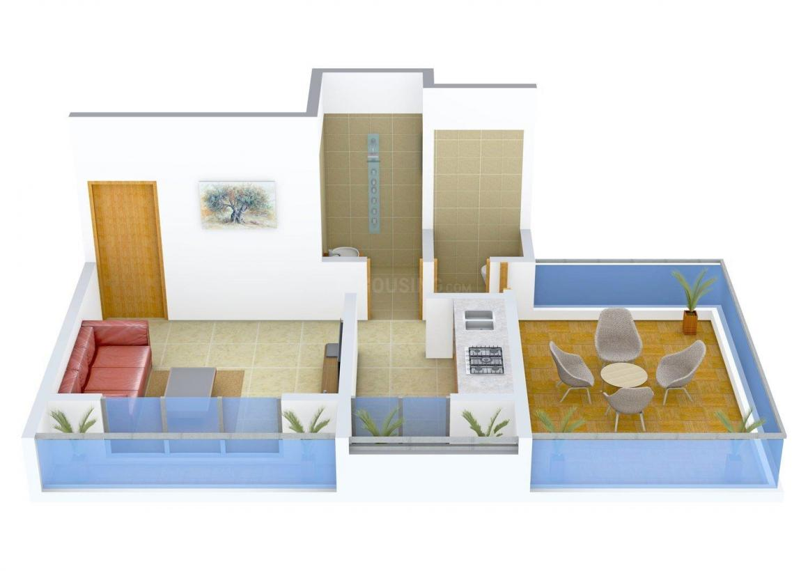 Floor Plan Image of 412.0 - 600.0 Sq.ft 1 RK Apartment for buy in Bhosale Daffodil
