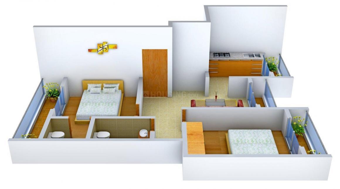 Rangvel Govind Park Floor Plan: 2 BHK Unit with Built up area of 920 sq.ft 1