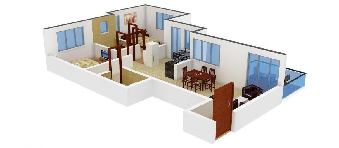 Floor Plan Image of 0 - 982.0 Sq.ft 2 BHK Apartment for buy in Surya Skies