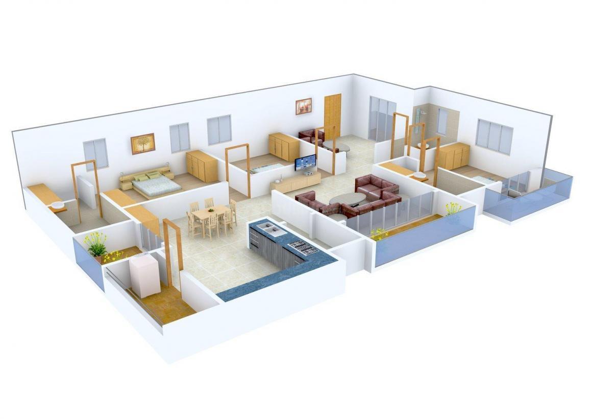 Floor Plan Image of 2650 - 2721 Sq.ft 3 BHK Apartment for buy in Lahari Benz