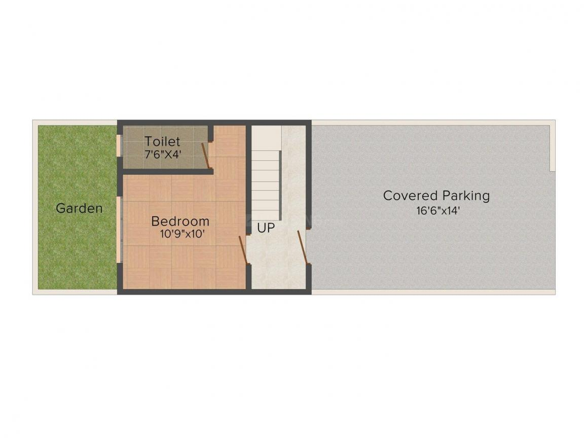 Malpani Coral Villas Floor Plan: 3 BHK Unit with Built up area of 1805 sq.ft 1
