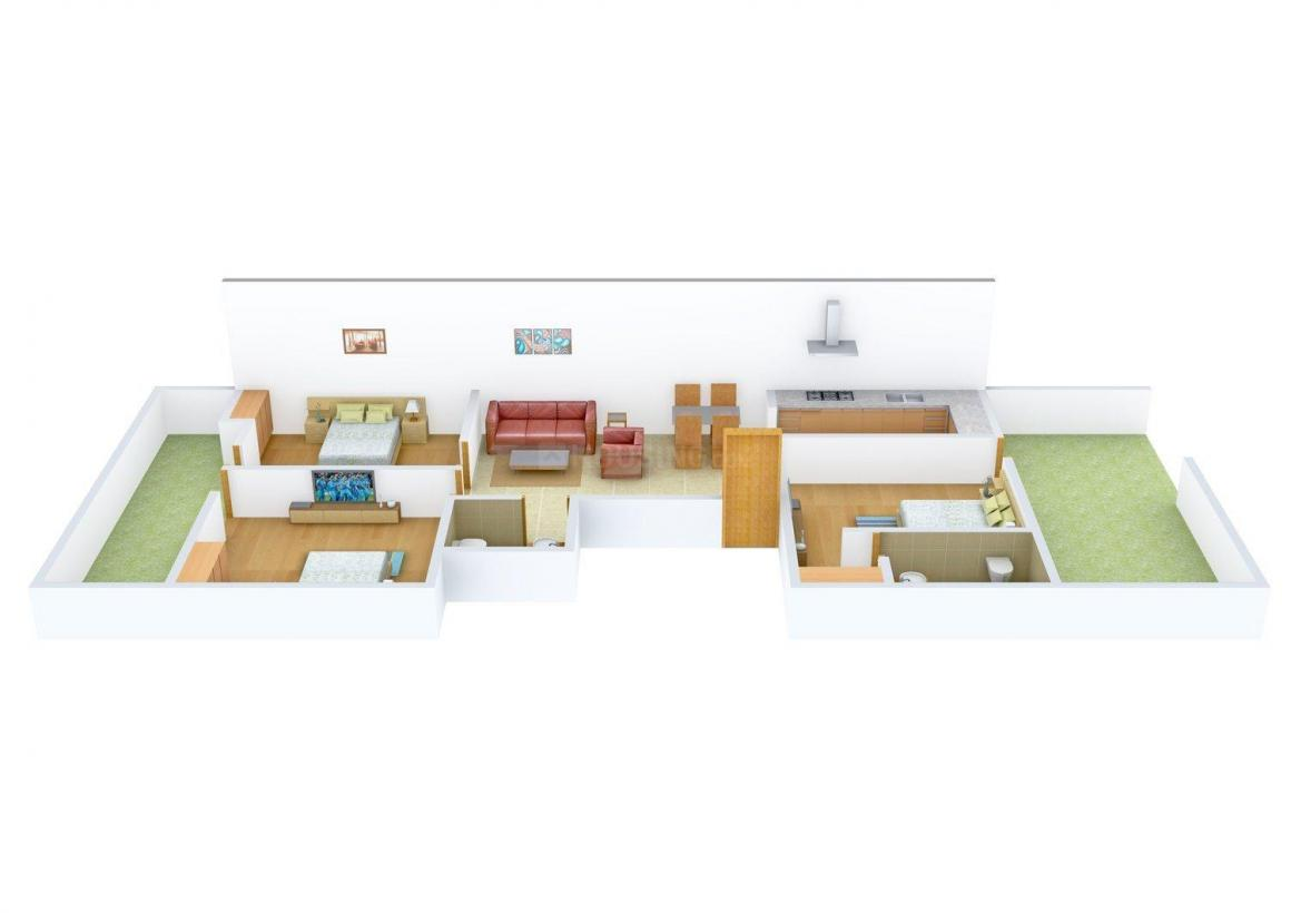 Floor Plan Image of 0 - 1179.0 Sq.ft 3 BHK Independent Floor for buy in Sagar Floors 2320