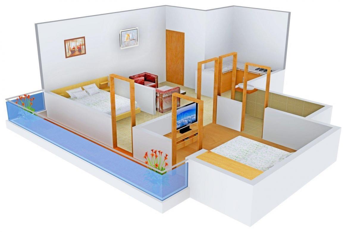 Floor Plan Image of 450.0 - 1550.0 Sq.ft 1 BHK Apartment for buy in Koshda Mandakini
