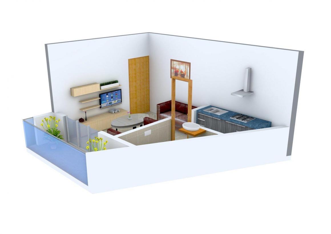 Floor Plan Image of 315.0 - 465.0 Sq.ft 1 RK Apartment for buy in Prayag Sangam Apartments