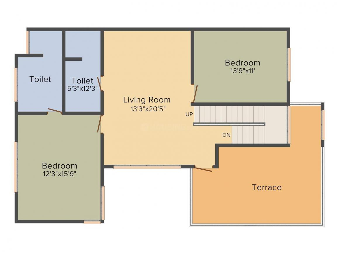 Floor Plan Image of 1059 - 4618 Sq.ft 2 BHK Villa for buy in USE Charulata