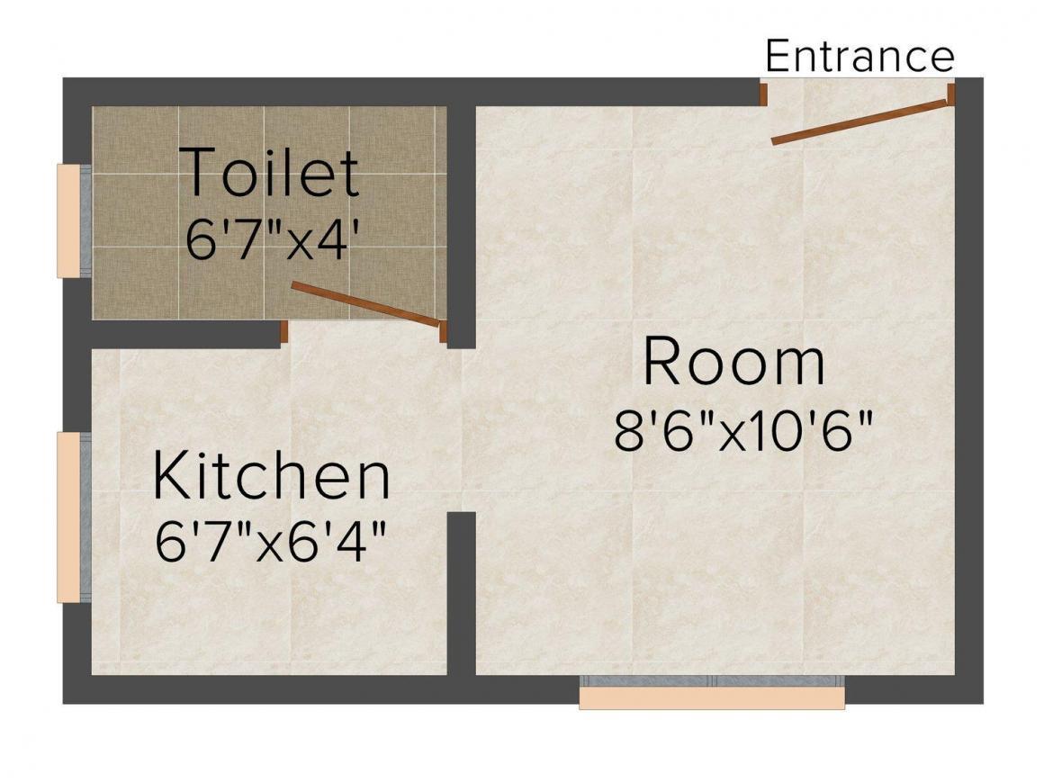 Floor Plan Image of 0 - 250 Sq.ft 1 RK Apartment for buy in Pratham