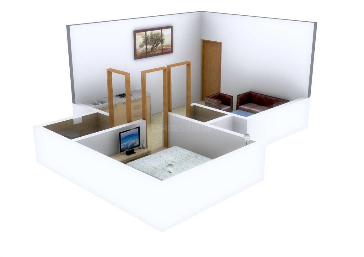 Floor Plan Image of 475.0 - 850.0 Sq.ft 1 BHK Apartment for buy in Saakar Laxmi Apartment