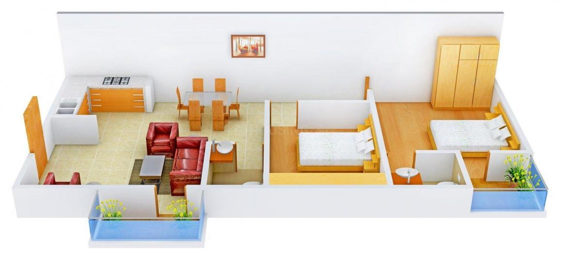 Floor Plan Image of 650.0 - 1309.0 Sq.ft 1 BHK Apartment for buy in Mayur Paradise