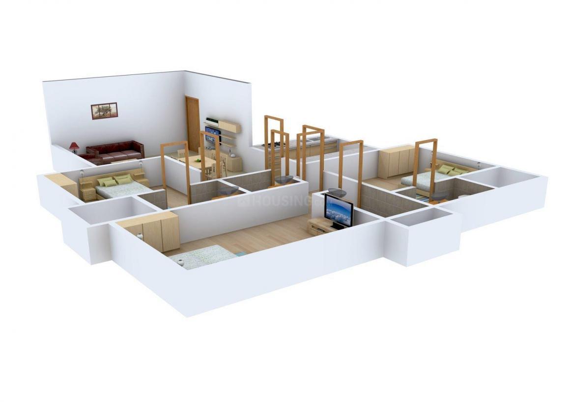 Jai Mata Nivan Floor Plan: 3 BHK Unit with Built up area of 1166 sq.ft 1