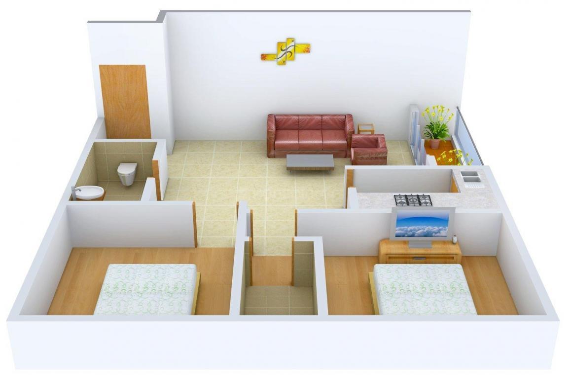 Floor Plan Image of 894 - 1153 Sq.ft 2 BHK Apartment for buy in Swanhousing Swan Green