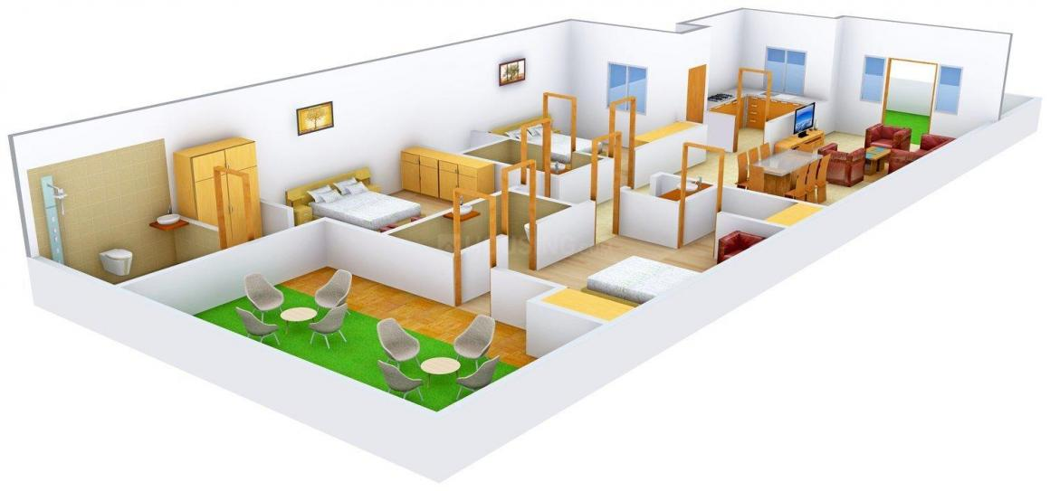 Suvidha Builder Floors 1 Floor Plan: 3 BHK Unit with Built up area of 1800 sq.ft 1