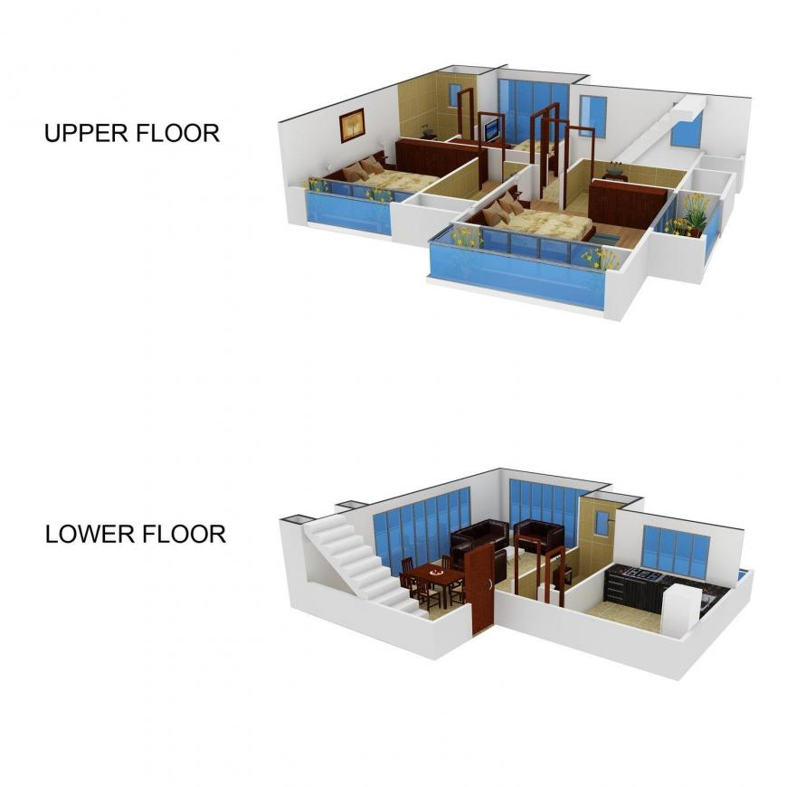 Floor Plan Image of 3000.0 - 4050.0 Sq.ft 3 BHK Villa for buy in Diagrams Aventura Villas