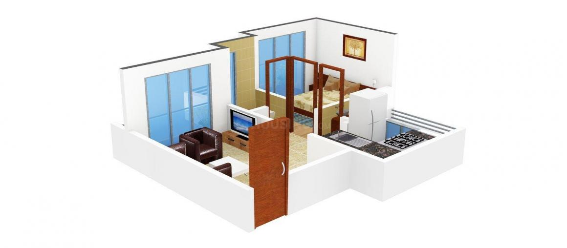 Floor Plan Image of 700.0 - 1050.0 Sq.ft 1 BHK Apartment for buy in Sejal Suyash Apartment