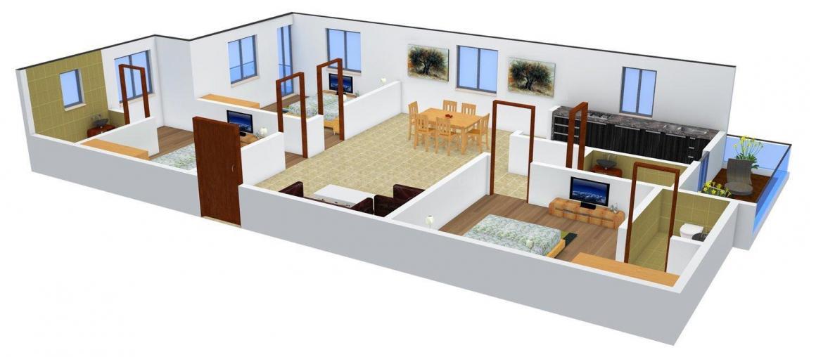 Sri Sai Raghavendra Sri Sai Homes Floor Plan: 3 BHK Unit with Built up area of 1780 sq.ft 1