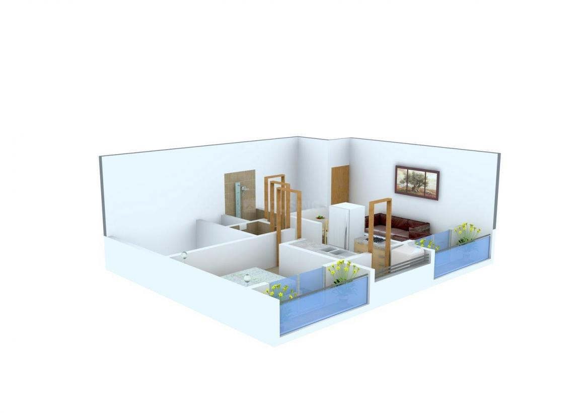 Floor Plan Image of 431.0 - 508.0 Sq.ft 1 BHK Apartment for buy in BlueKey Castello