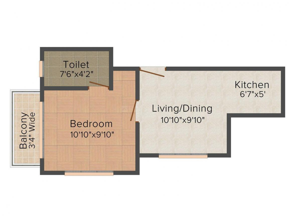 Floor Plan Image of 600.0 - 650.0 Sq.ft 1 BHK Independent Floor for buy in Malhan Porvorim 363