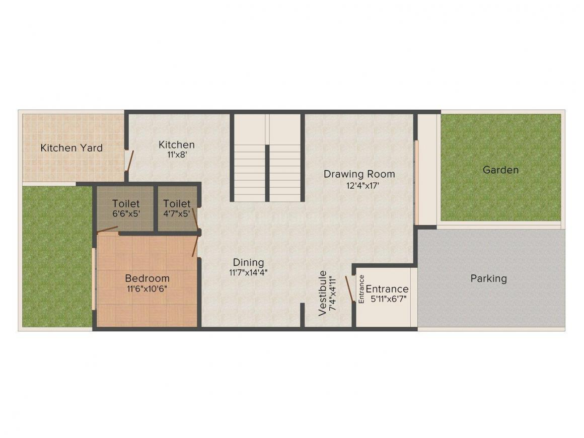Goyal Floris Floor Plan: 4 BHK Unit with Built up area of 3276 sq.ft 1