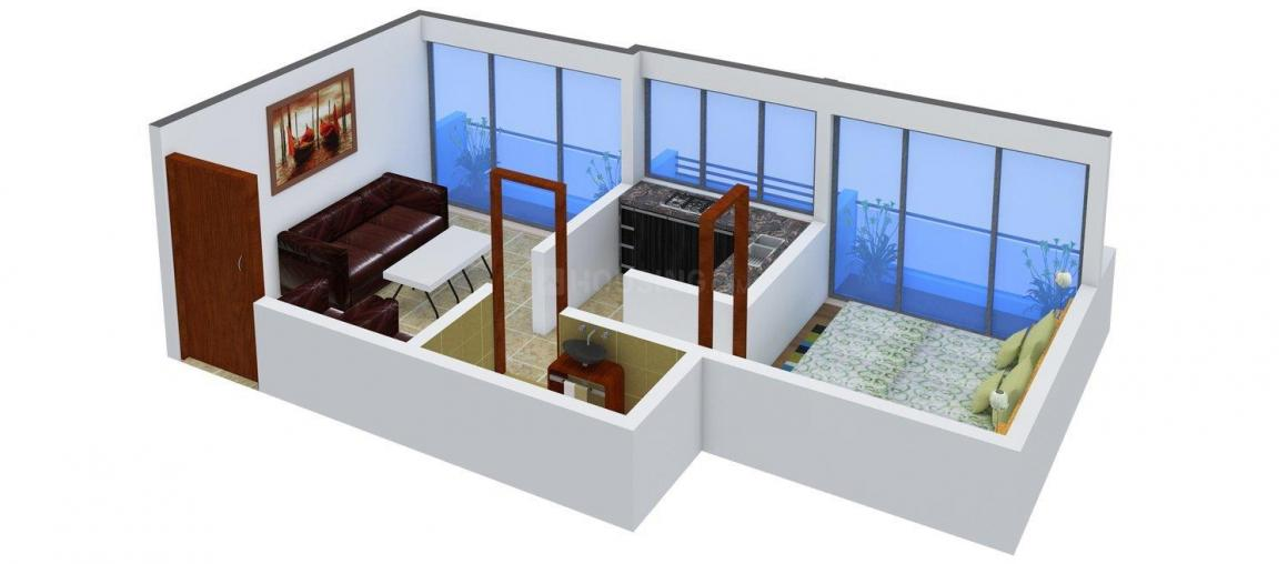 Floor Plan Image of 0 - 610 Sq.ft 1 BHK Apartment for buy in Suyash Jay Malhar