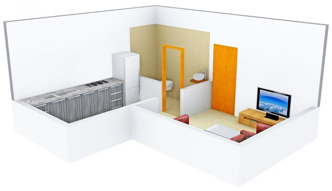 Balaji Omkar Heights Floor Plan: 1 BHK Unit with Built up area of 410 sq.ft 1