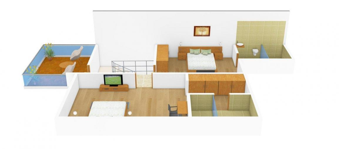 Arun Excello Excello Town House Floor Plan: 3 BHK Unit with Built up area of 1460 sq.ft 1