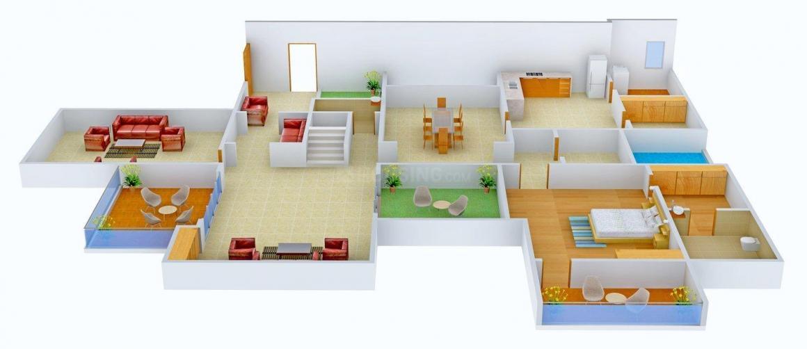 Floor Plan Image of 0 - 500 Sq.ft 4 BHK Bungalow for buy in Sarthav Abhishree Residency 2