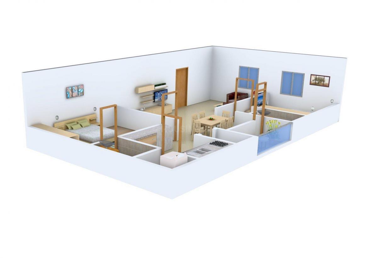 Kranthi Nivas Floor Plan: 2 BHK Unit with Built up area of 1080 sq.ft 1