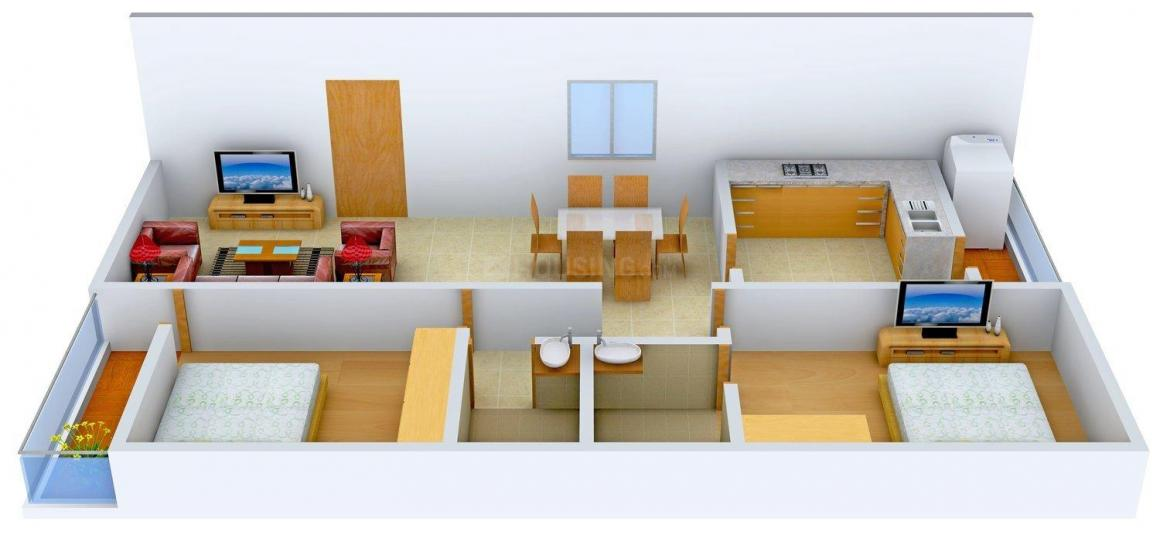 Floor Plan Image of 0 - 1075.0 Sq.ft 2 BHK Apartment for buy in RK Park View Classic