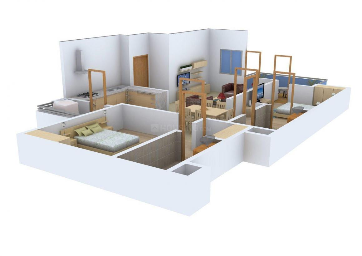 Floor Plan Image of 1200 - 1400 Sq.ft 2 BHK Apartment for buy in Jaypee Greens Udaan