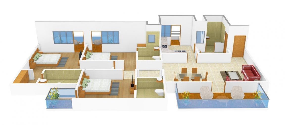 Floor Plan Image of 0 - 1910.0 Sq.ft 3 BHK Independent Floor for buy in GP Homes 4