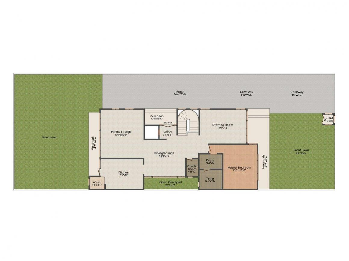 CBS Amaltas Bungalows Floor Plan: 4 BHK Unit with Built up area of 11200 sq.ft 1
