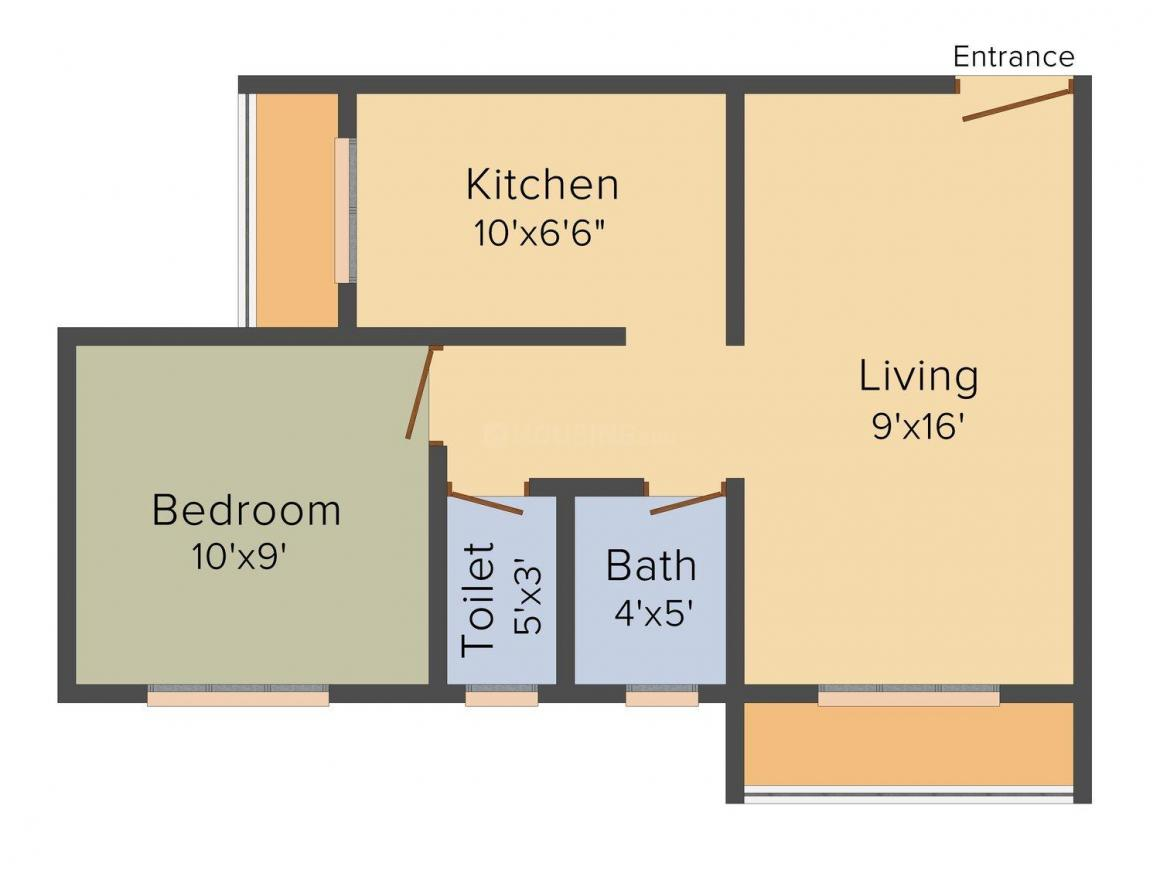 Friend'S - Park Neelkanth Floor Plan: 1 BHK Unit with Built up area of 550 sq.ft 1