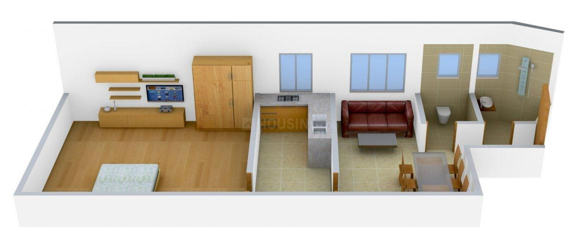 Floor Plan Image of 0 - 876 Sq.ft 1 BHK Apartment for buy in M K Mini Tower