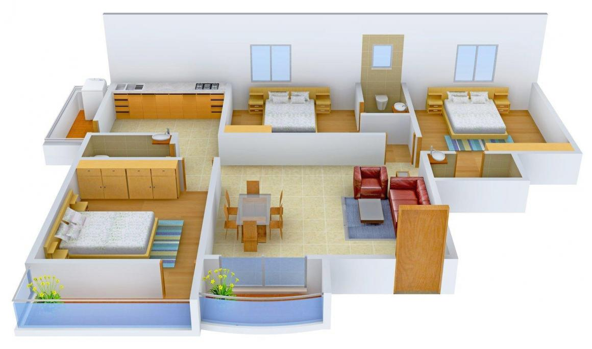 Floor Plan Image of 0 - 1725 Sq.ft 3 BHK Apartment for buy in  Adithya Pearl