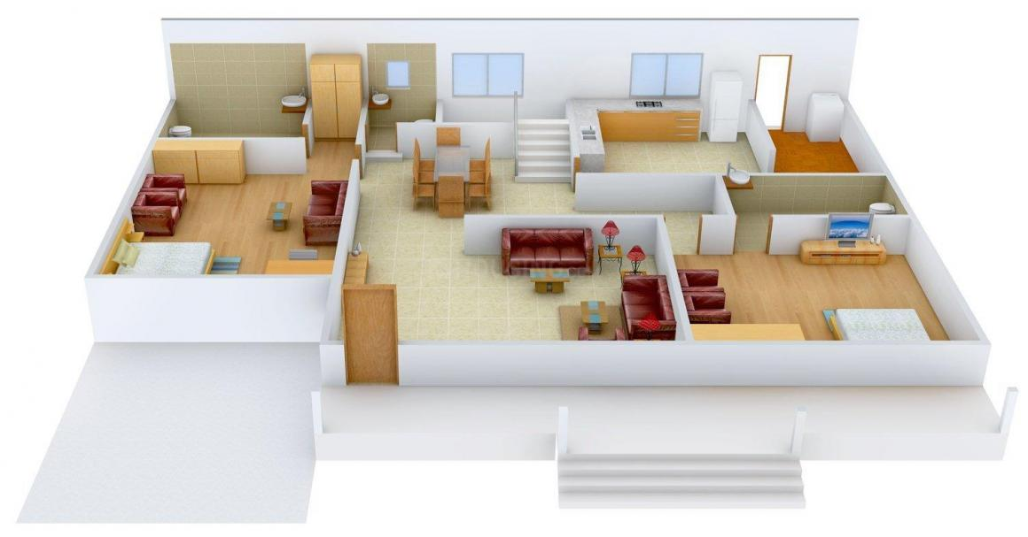 Mather Metro View Floor Plan: 4 BHK Unit with Built up area of 2300 sq.ft 1