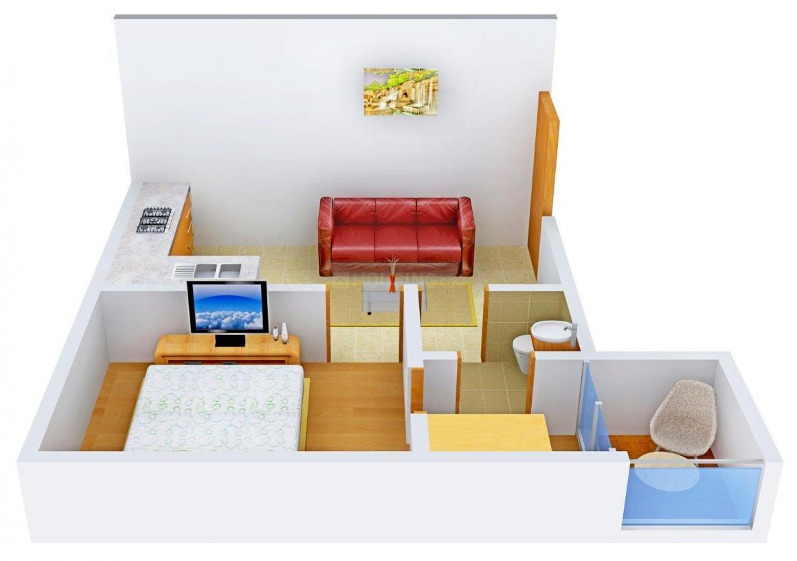 Floor Plan Image of 550 - 950 Sq.ft 1 BHK Independent Floor for buy in Living Ecohomz