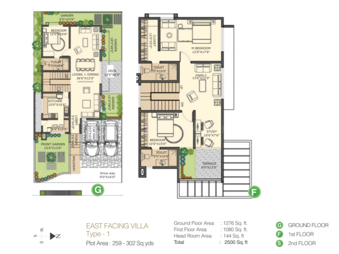 Pooja Wonderful World Floor Plan: 3 BHK Unit with Built up area of 2500 sq.ft 1