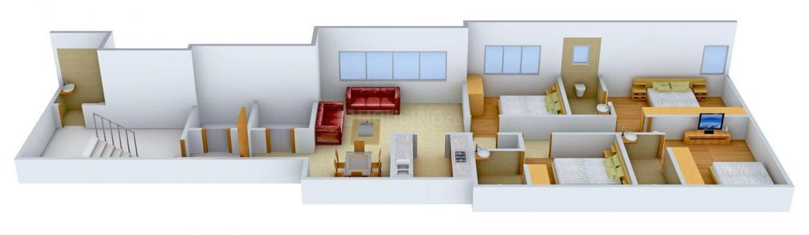 Floor Plan Image of 1120 - 2240 Sq.ft 4 BHK Apartment for buy in Grace Fluidic