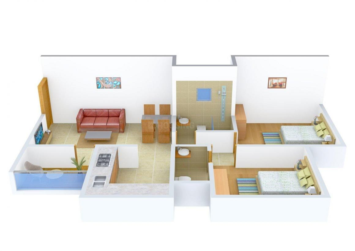 Floor Plan Image of 0 - 830.0 Sq.ft 2 BHK Apartment for buy in Gajra Pratham Apartment
