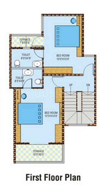 Pharande Comfort Cushion Floor Plan: 3 BHK Unit with Built up area of 2400 sq.ft 2