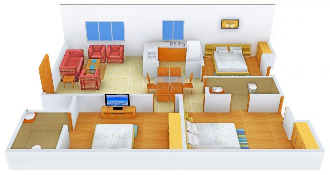 Royal AK Builder Floor Floor Plan: 3 BHK Unit with Built up area of 1800 sq.ft 1