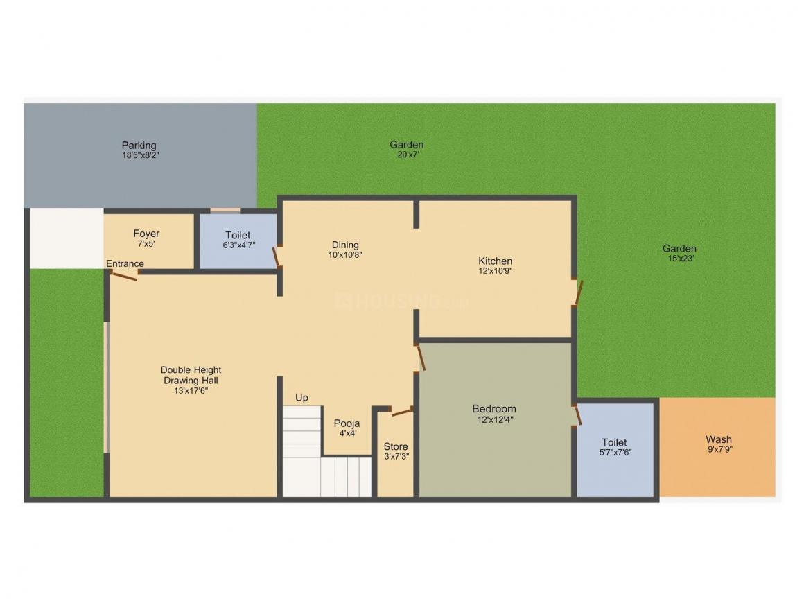 DLH Swastik Palazzo Floor Plan: 4 BHK Unit with Built up area of 2646 sq.ft 2