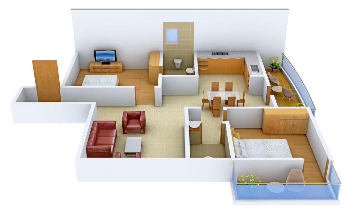 Floor Plan Image of 1175 - 1650 Sq.ft 2 BHK Apartment for buy in Thanushree Vanani