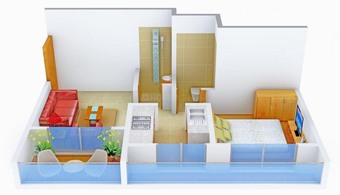 Floor Plan Image of 560.0 - 980.0 Sq.ft 1 BHK Apartment for buy in Horizon Elegant Olympia