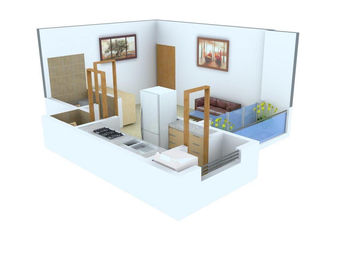 Floor Plan Image of 250.0 - 562.0 Sq.ft 1 RK Apartment for buy in Kothari K D Saicon