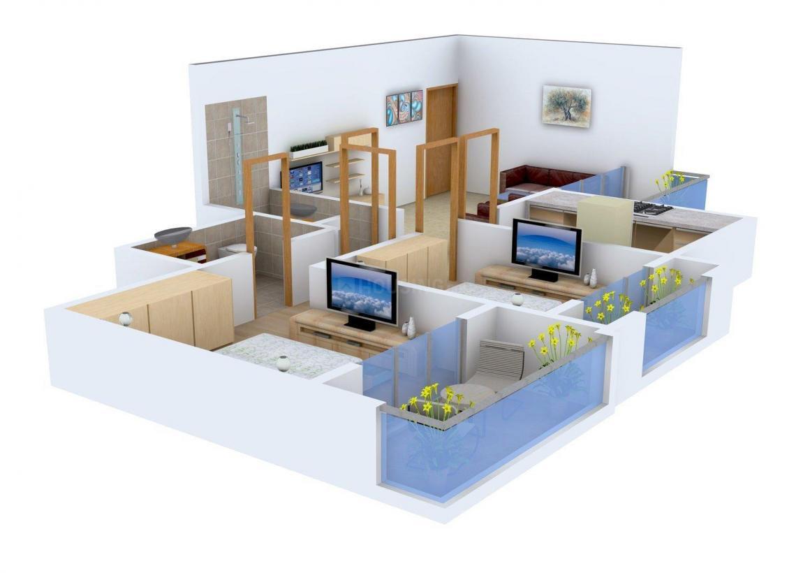Floor Plan Image of 1130.0 - 1470.0 Sq.ft 2 BHK Apartment for buy in Sai Yashvasin