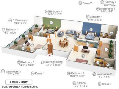 Richlook Luxury Floor In Sector 43 Faridabad Price Reviews Floor Plan