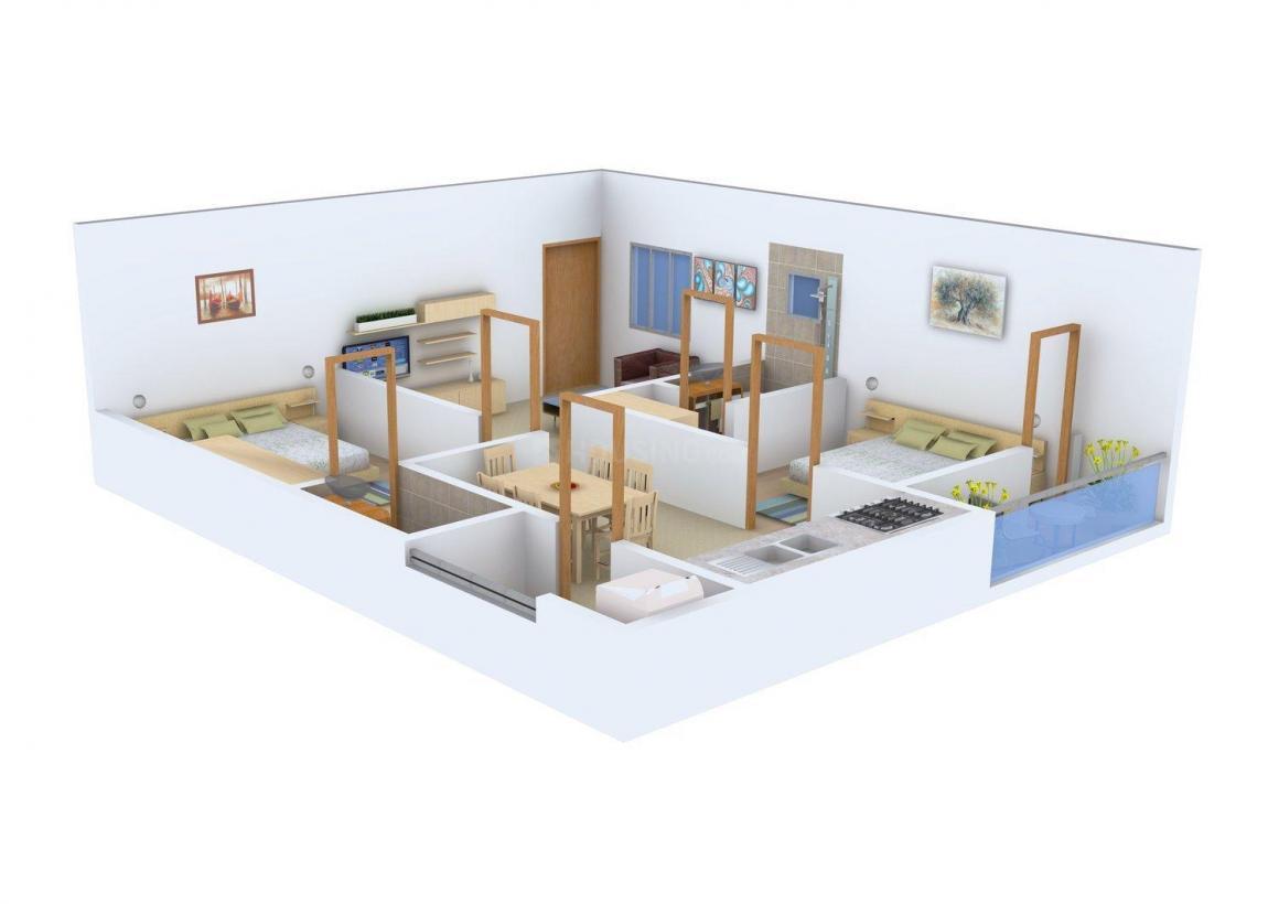 Vinayaka Sai Satya Nilayam Floor Plan: 2 BHK Unit with Built up area of 946 sq.ft 1
